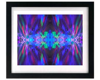 11 x 8.5 Psychedelic LED Light Painting, Symmetrical Art Print for Hippies, Rockers, Ravers & Music Freaks
