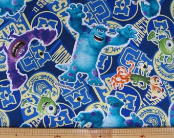 Disney Monster's Inc Fabric / Japanese Fabric 110cm x 50cm
