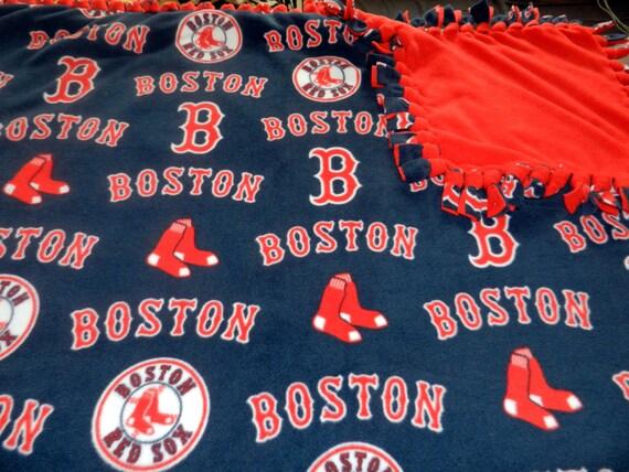 Mlb Boston Red Sox Baseball Fleece Tie Blanket