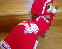 Mrs. Claus costume by FiercePetFashion