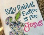 Waffle Weave Dish Towels - Easter Bunny - Tea Towels - Easter Tea Towels - Dish Towels - Holiday Tea Towels