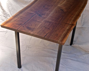 LIve Edge Black Walnut Desk/Table