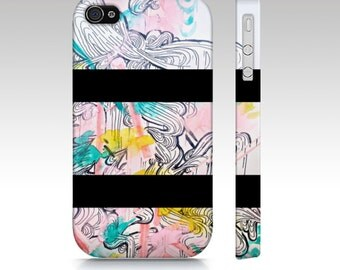 Pastel color phone case - iphone 4 case - phone cover - cell phone cover - watercolor art - gift for her