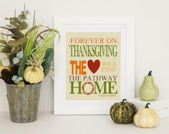 Thanksgiving Decor -  Home Decor - Thanksgiving Word Art