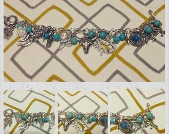 southwestern inspired charm bracelet