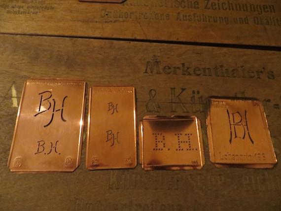 4 Monogram Stencils bh / hb