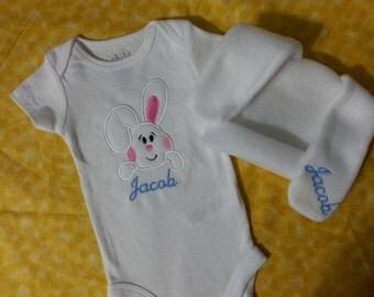 Bunny Beanie Onesie Set