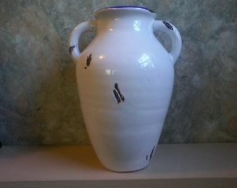 Enamelware Urn Vase
