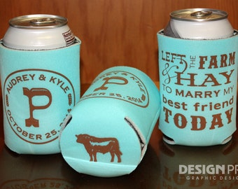wedding koozies customizemykooziespersonalized koozies