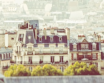 Paris Rooftop Photography - Paris Print - rooftops
