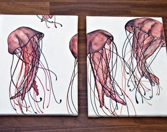 Jellyfish/Acrylic on canvas