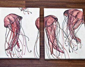 Jellyfish/Acrylic on canvas