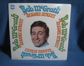 "SEALED, Vintage, ""Bob McGrath From Sesame Street"". Vinyl LP, Record Album, Jim Henson, Frank Oz, Original 1970 First Press, New Oldstock"