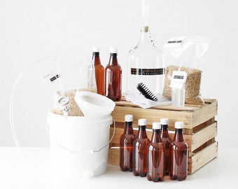 Brewery in a Box | 1 Gallon Beer Making Kit & 2 Grain Recipe Kits