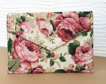 """MacBook AIR 13 inch sleeve with pocket, macbook case cover, laptop case with floral pattern, envelope bag, Eco Friendly  - """"Envelope"""""""