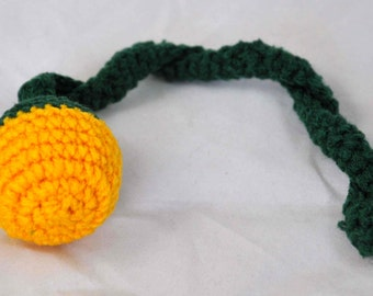 Green Bay Packers - Crochet Cat Toy - Jingle Ball Snake - Homemade Cat Toy - Unique Cat Toys - Cat Ball - Cat Toys - Crochet Balls -  L1