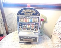 Jumbo Slot Machine Bank Lights UP /Makes Noise/SALE Use Coupon Code CLEARINGOUT25 Must Be used at check out can not change after paying :)S