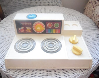 1978 Fisher Price Toy Stove :)S