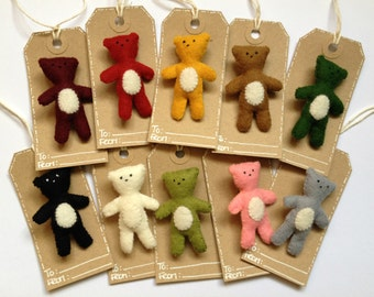 Plush Ted Bear medium pin brooch