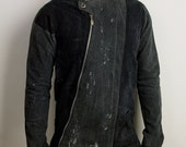 Mens Futuristic Asymmetrical Denim jacket
