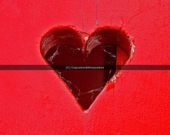 """Red Heart """"Love"""" Fine Art Photograph"""