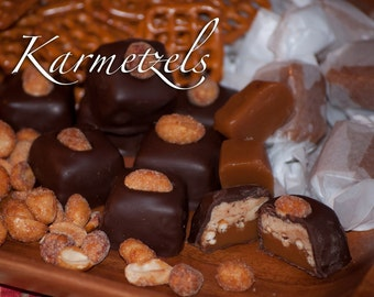 Caramel, Pretzel, Peanut Butter Fudge - The Karmetzel