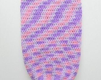 Infant Cocoon Newborn Girl Bunting Baby Snuggle Sleep Sack Soft Pastel  Pink Purple White Shower Gift
