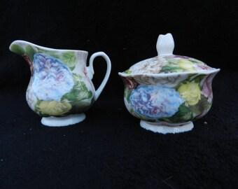 Cream and Sugar set: Hand designed porcelain