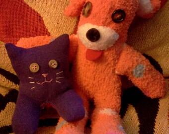 Sock dog and kitty buddy bundle