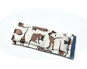Lavender Eye Pillow, Relaxing Lavender Heat Pack For Eyes, Siamese Cats, Gray Damask