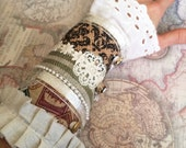 Lacy Recycled Fabric Cuff