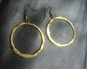 Gold Over Dangle Hoops 985.