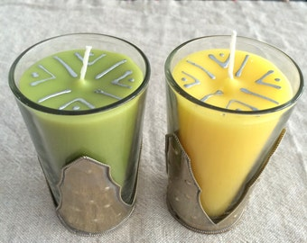 Moroccan Tea Glass Candles - Pairs