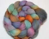 Handpainted Roving - Dusk in the Tropics - Falkland Wool, 4 Ounces