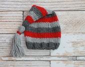 Newborn Knit Tassel Hat