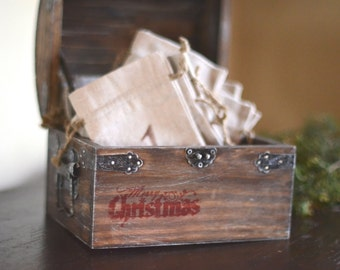 Christmas Advent Box by Burlap and Linen Co