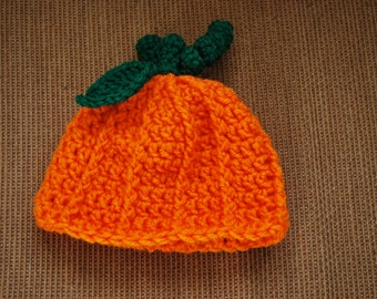 Crochet Halloween Pumpkin Hats
