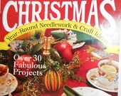 Set of 2 Vintage Christmas Cross Stitch Pattern Crafting Book