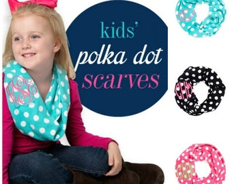 Chidrens monogram scarf, kids monogram scarf