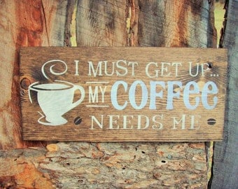 Coffee Sign Rustic Coffee Sign Coffee Bean Sign Made In Montana Kitchen Sign Coffee Beans Espresso