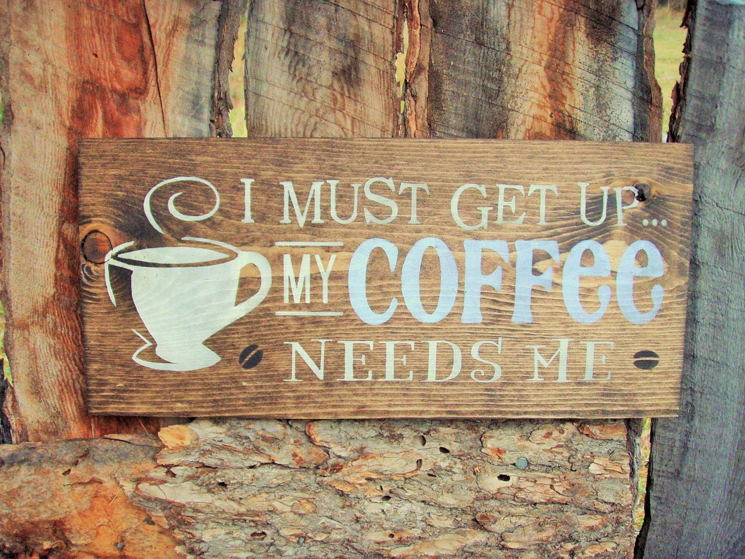 rustic home decor kitchen decor sign coffee sign coffee arrow