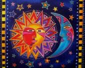 """Patch Moon Sun 6""""  Iron-On"""