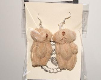 "Earrings TEDDY BEAR in brown ""554"""