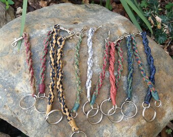 Braided Key leather chain strap -  leather strap for keys - Accessories - Gifts for all