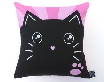 Cute Pink Cat Cushion / Pillow