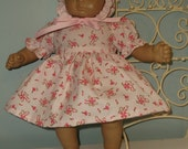 15 or 16 Inch American Girl Bitty Baby or Bitty Twin doll dress, bonnet and panties by Project Funway on Etsy