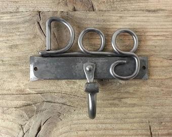 Dog Lead Hook Bar - Blacksmith  Hand  forged