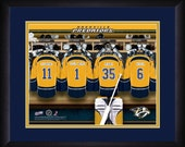 PERSONALIZED & FRAMED NHL Nashville Predators Sports Print