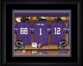 PERSONALIZED & FRAMED Officially Licensed TCU Horned Frogs Football Sports Print