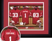 PERSONALIZED & FRAMED Officially Licensed Wisconsin Badgers Football Sports Print